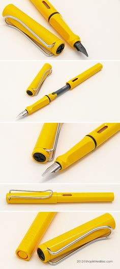 LAMY Safari Fountain Pen - Yellow, Chrome Nib mmm not sure if i'm fond of this color