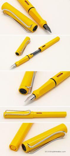 LAMY Safari Fountain Pen - Yellow, Chrome Nib mmm not sure if i'm fond of this color