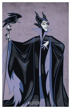 Villains colored poster set Maleficent The Evil by PosterForum