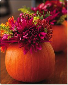 pumpkin-vase - Reuse your pumpkins into fall decor!