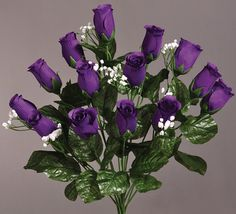 Rose cascading Bridal Bouquet 12 piece set Choose from 19 colors by SilkFlowersByJean, $99.00
