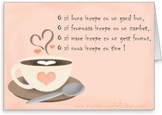 Felicitari de buna dimineata - O zi frumoasa incepe cu un gand bun - mesajeurarifelicitari.com Deep Questions, This Or That Questions, Mood Quotes, Positive Quotes, Motto, Good To Know, Beautiful Day, Good Morning, Tea Cups