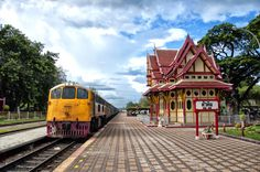 Hua Hin Train Station, Thailand puzzle in Puzzle of the Day jigsaw puzzles on TheJigsawPuzzles.com. Play full screen, enjoy Puzzle of the Day and thousands more.