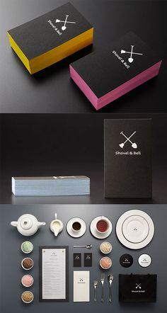 DESIGN : Stylish Edge Painted Black Business Cards #thinkfast @Deluxemodern Design | Miss Modern Shop