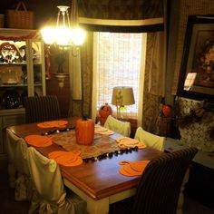 Family room dining area-Halloween 2014 House of Gall.
