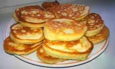 Pancakes at yogurt & quot; Ukrainian Recipes, Russian Recipes, Russian Cakes, Tasty, Yummy Food, Galette, Unique Recipes, Food To Make, Foodies