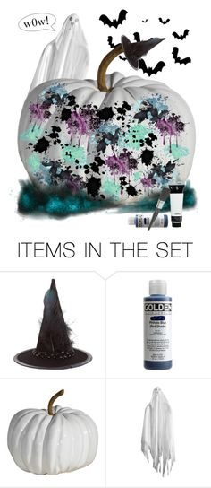 """""""× Splattered Pumpkin ×"""" by wwelover02 ❤ liked on Polyvore featuring art"""