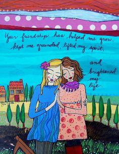 LoriPortkaArt Your friendship has helped me grow
