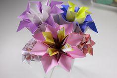 Origami Flower Delphinum