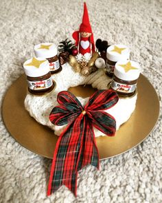 Advent wreath with nutella!  #nutella #adventwreath #advent #christmas #homedecor #diy