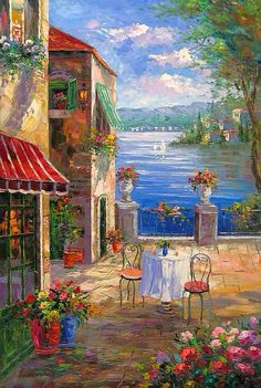 Mediterranean Cafe With A View-~ Google