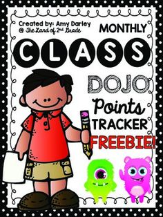 Class DOJO points tracker FREE Easy for students to use in the classroom. Created by The Land of 2nd Grade