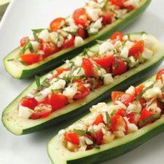 Stuffed Zucchini Boats Recipe – 2 Points   | Weight Watchers Recipes