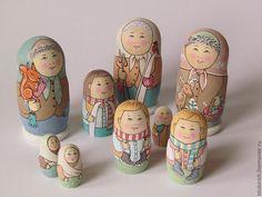 """Купить Матрешка """"Встаём на лыжи!"""" - подарок, подарки и сувениры, сувенир, русский сувенир, игрушка"""