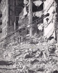 Hotel King David after the explosion organised by Etsel against the British mandate, on 22.7.46, Jerusalem