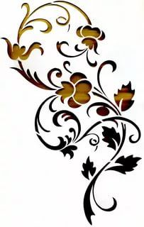 Reminder to consider painting over stencils to leave varnished part showing of woodwork on dining room table? Stencils, Stencil Templates, Stencil Patterns, Stencil Painting, Stencil Designs, Fabric Painting, Embroidery Patterns, Motif Arabesque, Paper Art