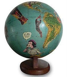 Brabourne Farm: Art on Globes. Thanks to Cathy Barber for sending this pin my way. I've never seen anything quite like this before.