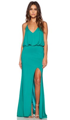 Toby Heart Ginger x Love Indie Chain T Back Maxi Dress in Green & Gold   REVOLVE