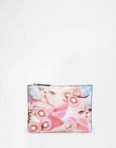 Image 1 ofMonki Fruity Cat Clutch Bag