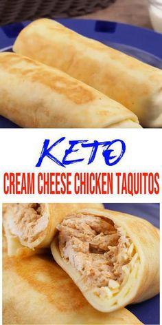 Free Keto Recipes, Low Carb Recipes, Healthy Recipes, Keto Fast Food, Keto Snacks, Keto Friendly Fast Food, Cream Cheese Chicken, Keto Chicken, Best Low Carb Tortillas