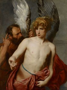 Daedalus and his son Icarus