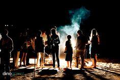 Rehearsal dinner bonfire