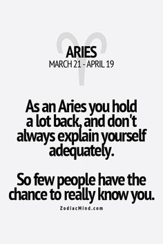 Aries trait