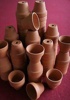 Bulk Lot Of 100 Miniature Clay Flower Pots, Doll House, Fairy Garden, Craft, Art