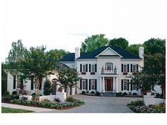 Georgian House Plan with 5432 Square Feet and 5 Bedrooms(s) from Dream Home Source | House Plan Code DHSW34569