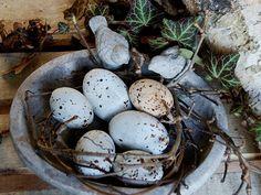 jajka ceramiczne vintage