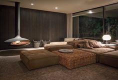 House in an Urban Jungle by Dreimeta #cheminee gyrofocus #design contemporain http://www.focus-creation.com/