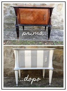 Restauro di un comodino Paint Furniture, Home Decor Furniture, Furniture Projects, Furniture Makeover, Office Furniture, Brick Crafts, Online Furniture Stores, Chic Bathrooms, Upcycled Furniture