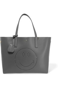 Anya Hindmarch | Ebury Smiley perforated leather tote | NET-A-PORTER.COM