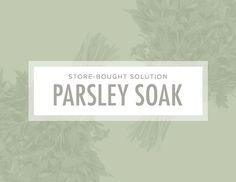 7 Brilliant Ways to Unclog Your Pores: Parsley soak