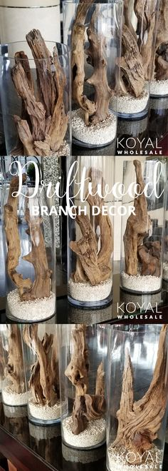 Driftwood branches decor ideas & inspiration Perfect Branch Home Decor or Tis . Driftwood branches decor ideas & inspiration Perfect Branch Home Decor or Tis … # Wedding centerpieces Driftwood Projects, Driftwood Art, Driftwood Ideas, Decorating With Driftwood, Driftwood Table, Beach House Decor, Diy Home Decor, Branch Decor, Branch Art