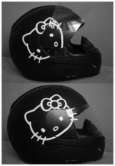 Hello Kitty Helmet. Think Joshua will mind this on the Harley??