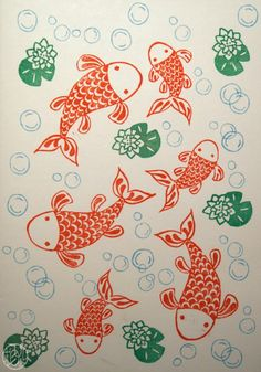 A stamp a week 18/52 - Comme un poisson...