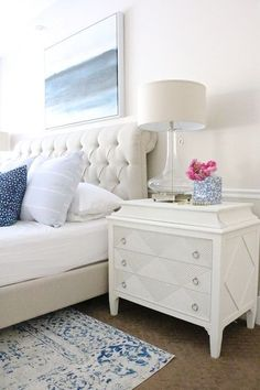 35 Popular White Master Bedroom Furniture Ideas - When looking for a vintage bedroom design that is timeless and comes with numerous attractive styles that make a impressive feature in your residence . Simple Bedroom Design, Master Bedroom Design, Modern Bedroom, Girls Bedroom, Bedroom Decor, Bedroom Ideas, Contemporary Bedroom, Contemporary Kitchens, Bedroom Small