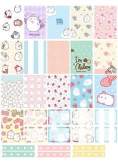Free Printable Molang Planner Stickers from Counting Sheepy Free Planner, Planner Pages, Happy Planner, Passion Planner, Budget Planner, Monthly Planner, Planer Organisation, Free Printable Stickers, Bullet Journal