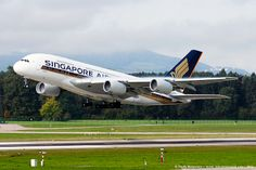 Singapore Airlines Airbus A380 take off