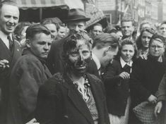 Shaving and Tarring of 'Kraut Whores' after Liberation of Holland by  Unknown Artist