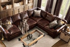 Napa Oversized Leather Sectional Furniture Options For Darius