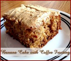Banana Cake with Coffee Frosting http://www.momspantrykitchen.com/banana-cake-with-coffee-frosting.html
