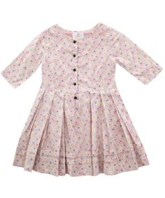 Minnie Print Classic Dress | Girl's Clothing by Liberty London