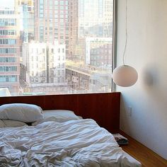 12 Unbelievably Seductive Beds To Crash In This Weekend #refinery29  http://www.refinery29.com/new-york-comfy-beds-instagram-pictures#slide-12  So light, so bright, this is the bed we want to sleep in tonight.