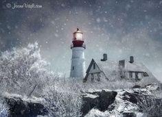 Winter in New England - Portland Head Light - Cape Elizabeth, Maine