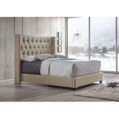 $530 - Baxton Studio Upholstered Bed