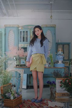Cotton Skirt, Casual Wear, Korean Fashion, Womens Fashion, Skirts, Model, How To Wear, Style, Asian Clothes