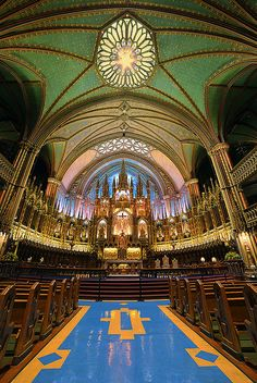 Places I have been: Notre Dame, Montreal, Canada. by pedro lastra Notre Dame Montreal, Quebec Montreal, Montreal Ville, Quebec City, Beautiful Places To Visit, Oh The Places You'll Go, Great Places, Beautiful Architecture, Beautiful Buildings