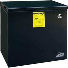 Igloo cu ft Chest Freezer, Black, Adjustable thermostat Energy-saving design Deep cooling and quick freezing ** Be sure to check out this awesome product. Best Appliances, Black Appliances, Kitchen Appliances, Kitchen Gadgets, Chest Freezer, Appliance Sale, Compact Refrigerator, Smart Storage, Save Energy